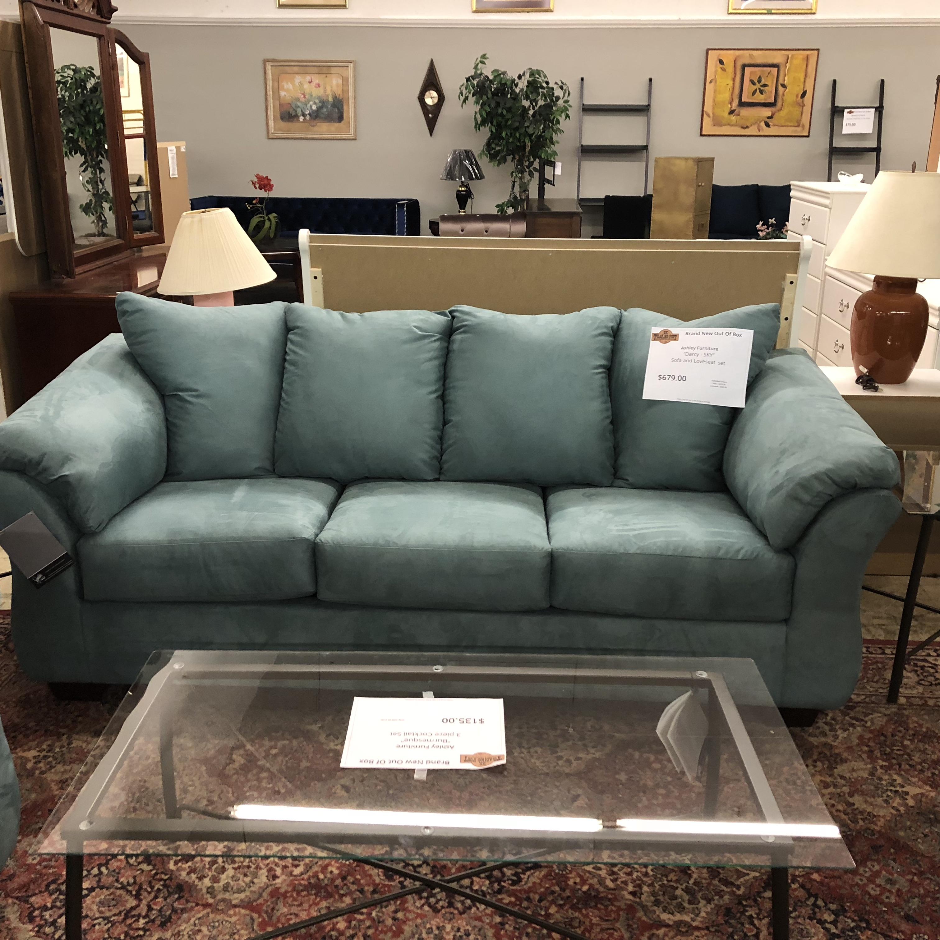 Online Sofa Store: Sofas: BRAND NEW! Ashley Darcy Sofa Set In Sky Blue