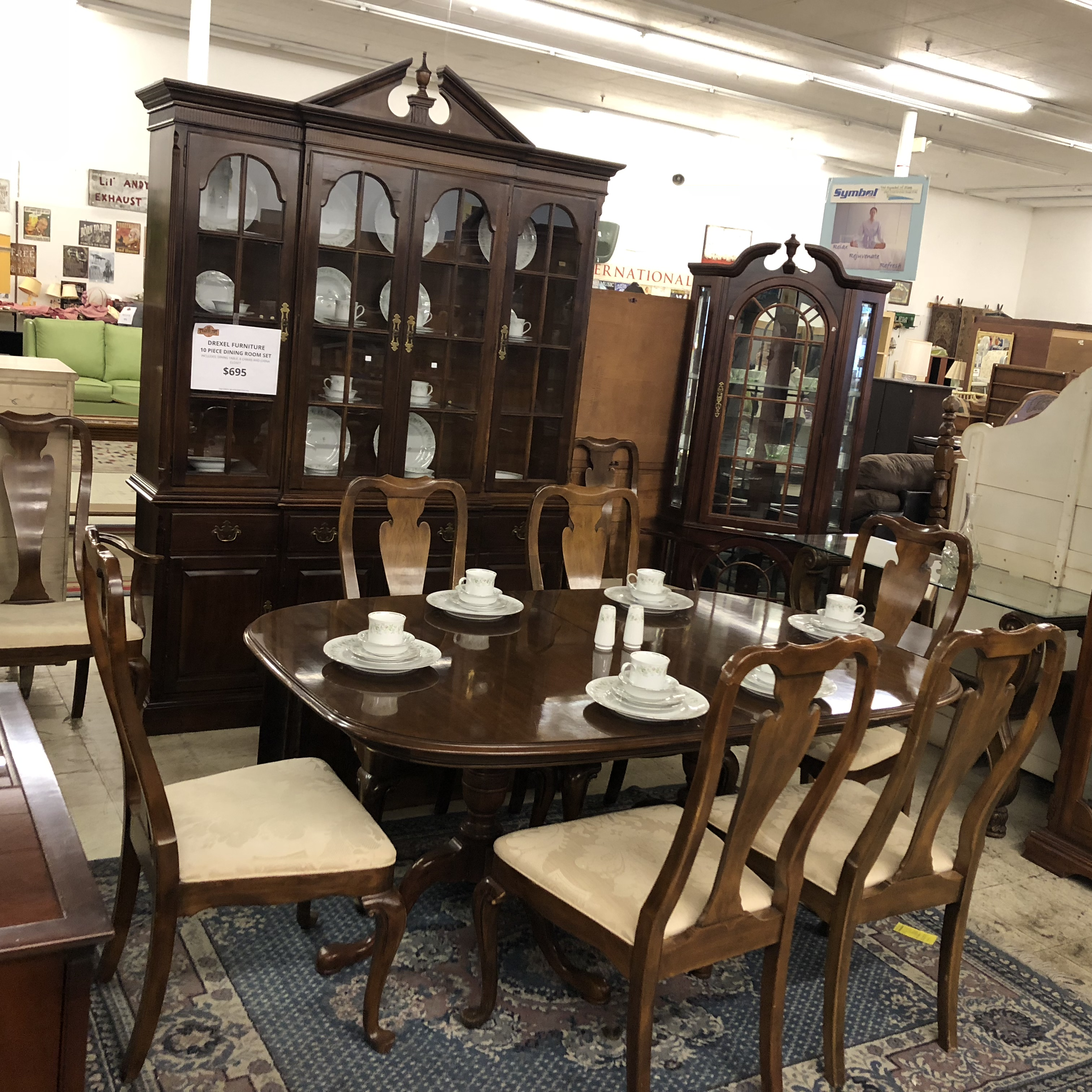 Complete Dining Sets: Beautiful 10 Piece, Cherry Dining