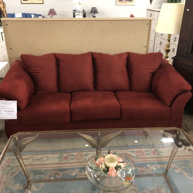 Ashley Furniture Brands: New Furniture : BRAND NEW! Ashley Darcy Sofa In Salsa SOLD
